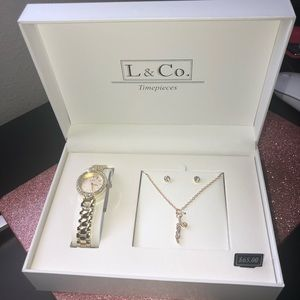 Watch , necklace , and earring set